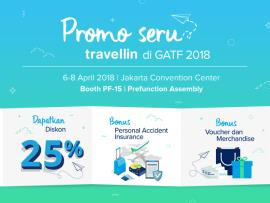 Promo 25% Travellin di Garuda Travel Fair 2018